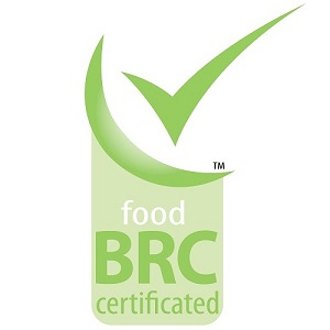 Certified as company compliant with BRC Issue 5 Global Standard for Food Safety by Lloyd's Register Quality Assurance (LRQA)
