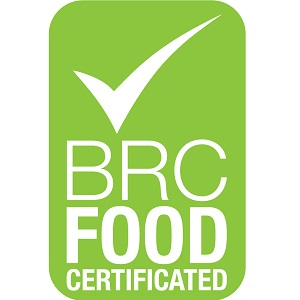 Certified as company compliant with BRC Issue 6 Global Standard for Food Safety by Lloyd's Register Quality Assurance (LRQA)